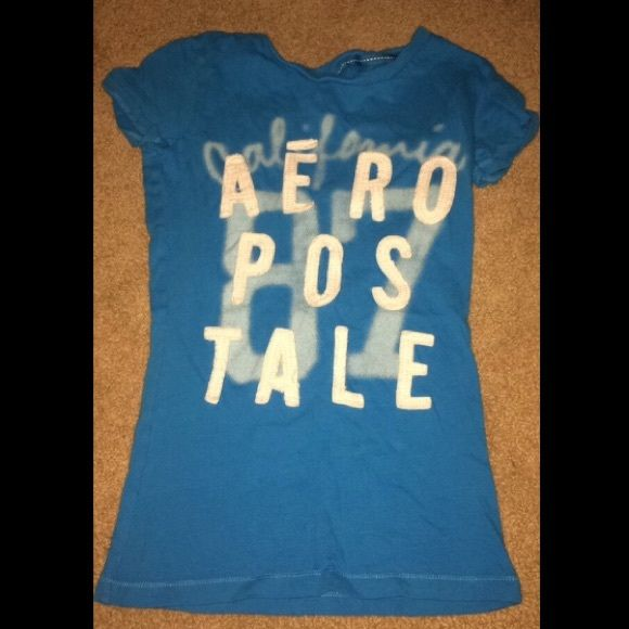 Aeropostale blue and white short sleeve top New condition-- for a teen girl Aeropostale Tops Tees - Short Sleeve