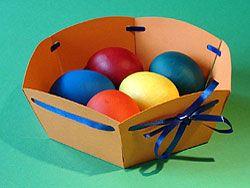 Osterkorb zum selber basteln – einfach und schön!