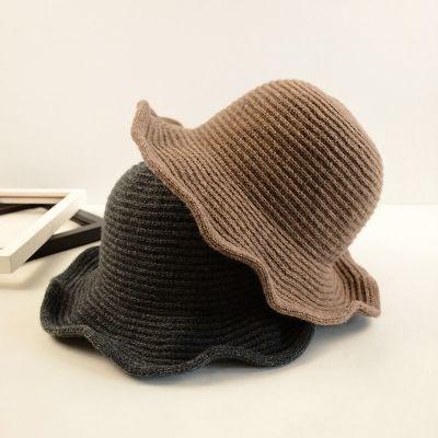 acquistare Nuovo Inverno Lana Tesa Larga Cappello Della Benna delle Donne  di Piegatura Fedora Arco Tie a84877b5deb5