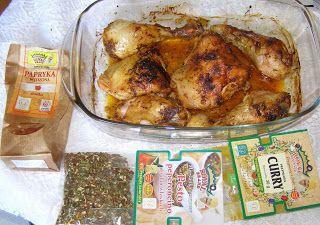 W Mojej Kuchni Lubię.. : uda kurczaka z piekarnika  z pesto peperroncino,cu...