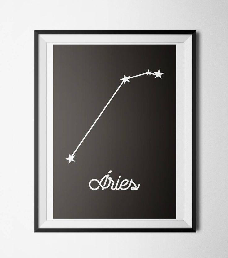 quadro signos - constelação áries - decoração sem marca