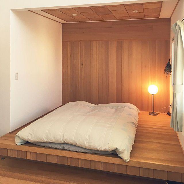 ベッド周り 小上がり 布団乾燥機 寝室 シンプルインテリア などのインテリア実例 2019 01 19 10 01 47 Roomclip ルームクリップ モダンベッドルーム 寝室 レイアウト インテリア 一人暮らし シンプル