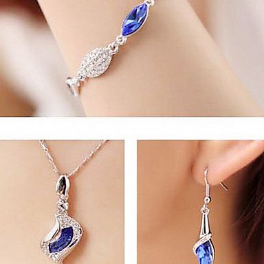 Oostenrijkse kristal diamant mode-sieraden set met swarovski element 1083 - EUR € 12.76