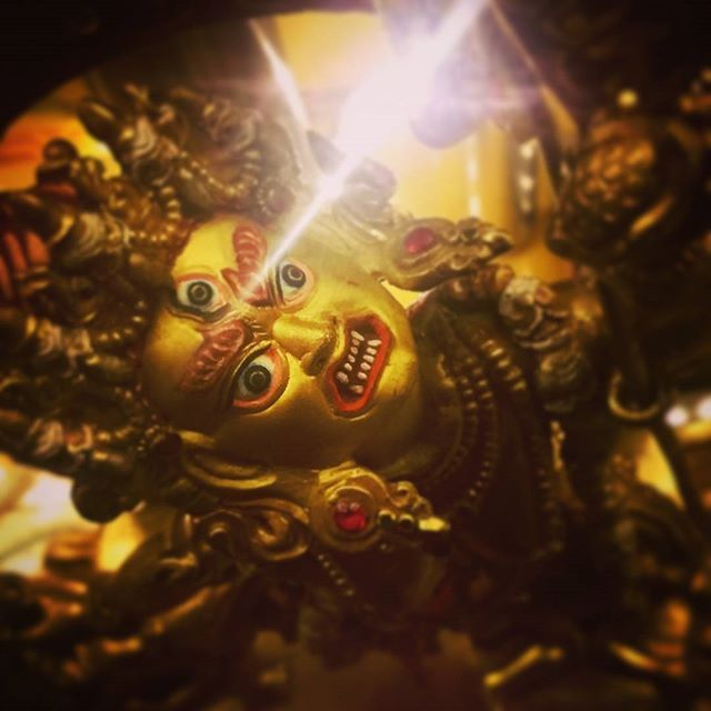 The only thing that we should be afraid of is our own delusions and their effects.  Here is the beautiful face of Vajrayogini. Highest yoga Tantra Buddha of wisdom.  #Kadampa #meditation #ModernBuddhism #buddhism #Gelugpa #newkadampatradition #newkadampa #mindfulness #monk #nkt #mindfulness #spiritual #prayer #DorjeShugden #Shugden #buddha #manjushri #mkmc #temple #buddhisttemple #buddha #GesheKelsangGyatso #kelsanggyatso #buddha #shrine #vajrayana #vajrayogini