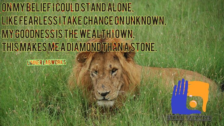 On my belief I could stand alone, Like fearless I take chance on unknown, My goodness is the wealth I own, This makes me a diamond than a stone. #LimnerLabworks #Limotes #Belief #Alone #Unknown #Chance #WednesdayWisdom #quotes #quotesoftheday #MotivationalQuotes