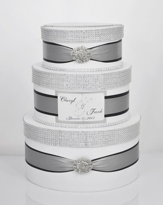 Card box / Wedding Box / Wedding money box  3 tier by DiamondDecor, $79.00
