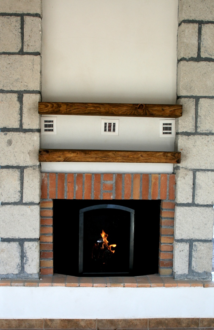 Beautiful mexican fireplace chimenea recubierta en sillar - Chimeneas de ladrillo ...