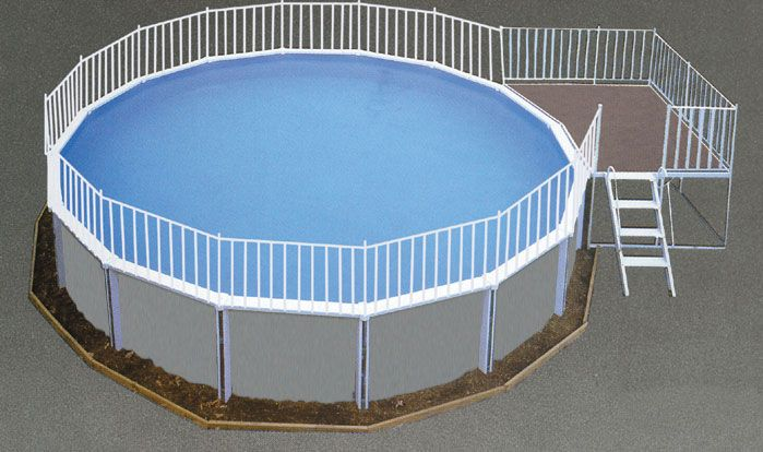 Simple Aluminum Decks Above Ground Pool Decks