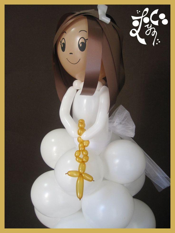 decoracion para primera comunioncon globos - Google Search