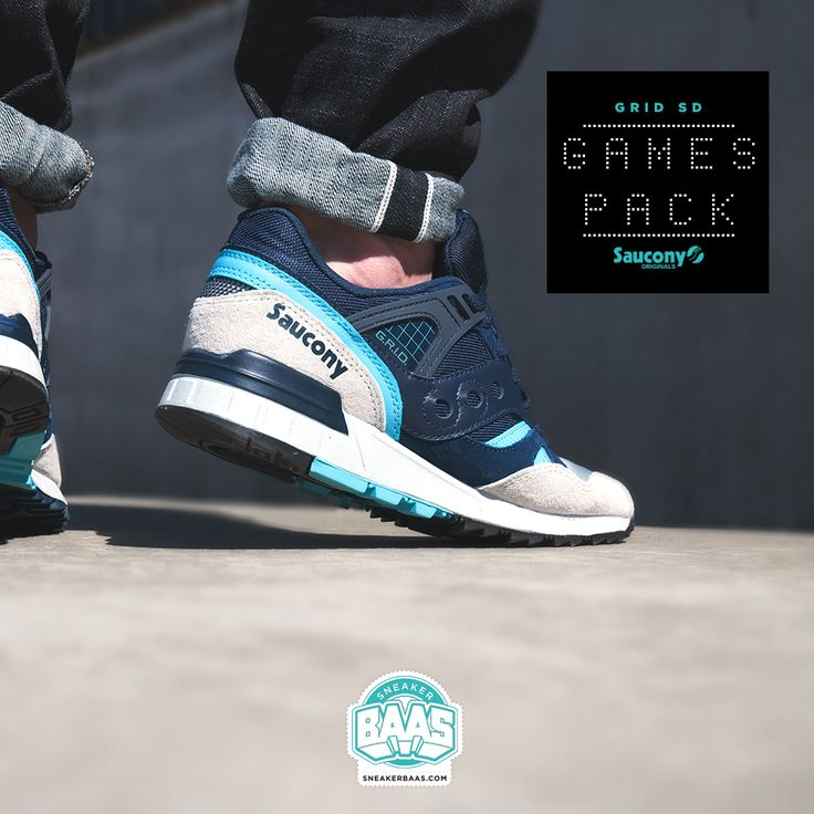 """#saucony #sauconygames #gamespack #sauconygrid #baasbovenbaas #sneakerbaas  Saucony Grid SD """"Games Pack"""" - Now available online, priced at € 124,95  For more info about your order please send an e-mail to webshop #sneakerbaas.com!"""