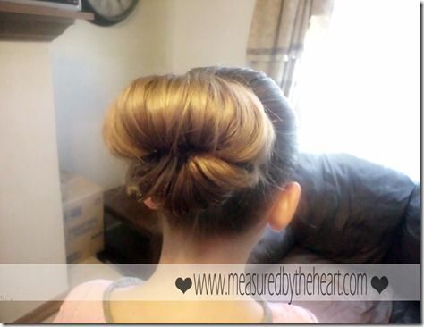 Easy messy bun - how have I never thought of this?!