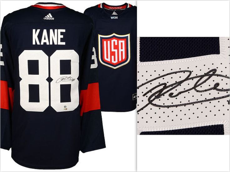 Exclusive–Autographed Team USA Patrick Kane Fanatics Authentic 2016 World Cup of Hockey Jersey