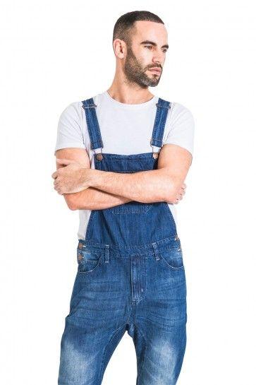 8b96d7e783e USKEES Slim Fit Men s Dungarees - Faded Indigo Denim Bib  Overalls  WearUS