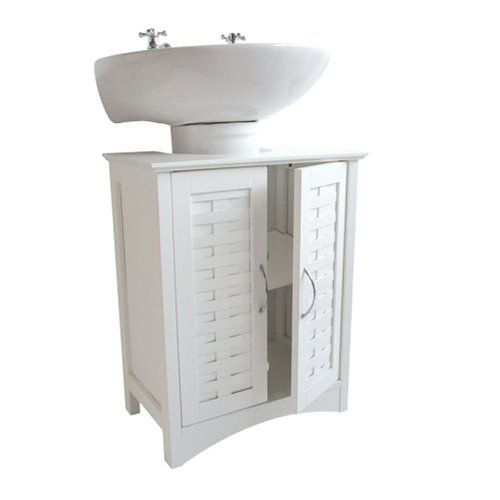 White Weave Effect Under Sink Bathroom Cabinet Roman At Homeu2026