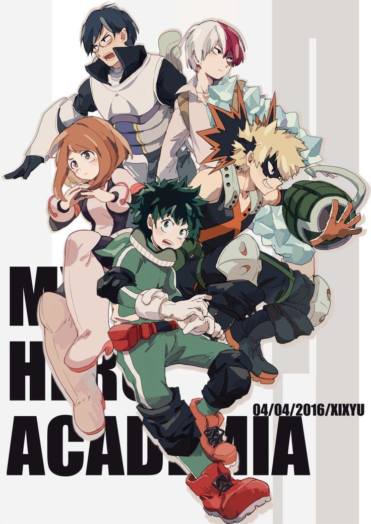 Tags: Fanart, Pixiv Id 3729995, Boku no Hero Academia, Midoriya Izuku, Bakugou Katsuki, Todoroki Shouto, Uraraka Ochako