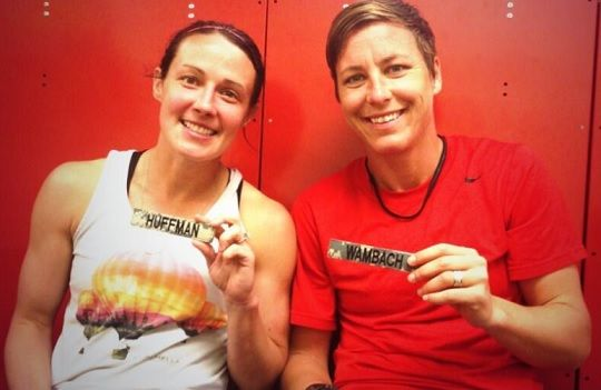 Abby Wambach & Sarah Huffman <3 #lgbtq
