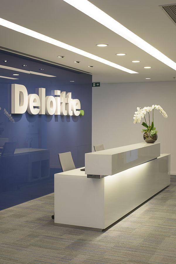 Great Office Designs Intended Deloitte Office Reception Looks Great office design moderndesign Httpwww
