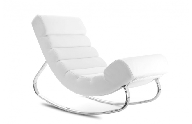fauteuil design blanc rocking chair taylor rocking. Black Bedroom Furniture Sets. Home Design Ideas