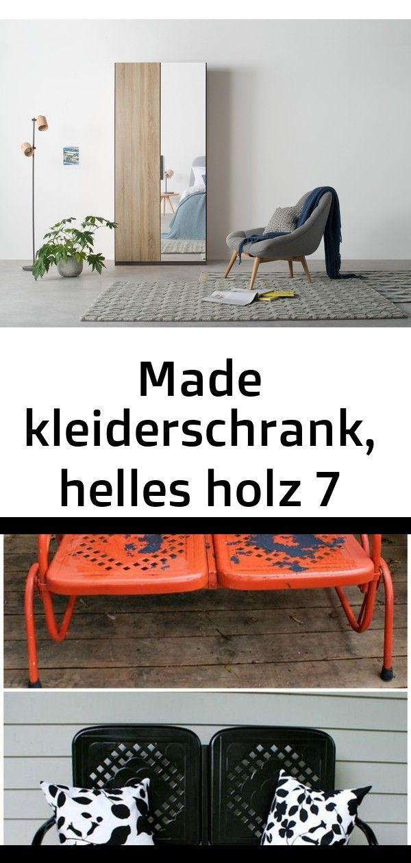 Made Kleiderschrank Helles Holz Mobel Aufpeppen Alte Orange