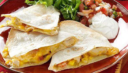 Apple-Chicken Quesadillas | Foodie | Pinterest