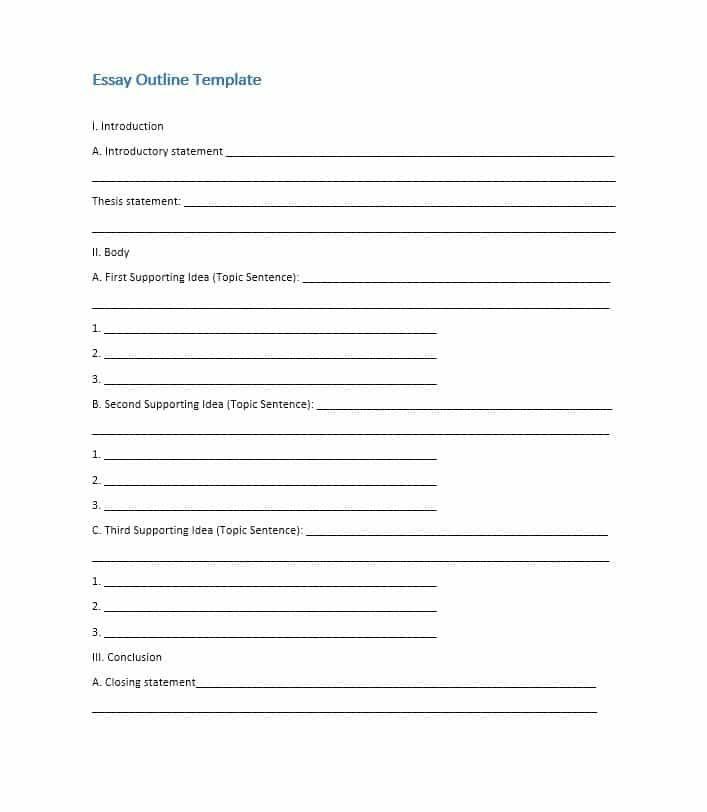 Free Essay Outline Template 05 Essay Outline Template Essay Outline Informative Essay