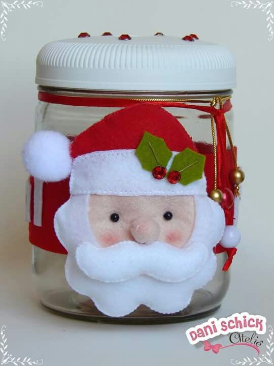 Santa Treat Jar Inspiration *No instructions available.