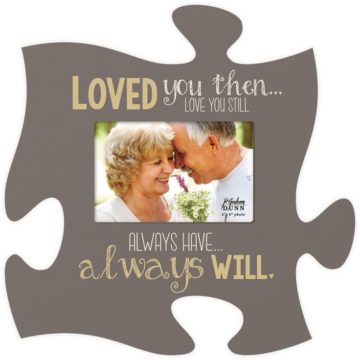 Love You Puzzle Photo Frame