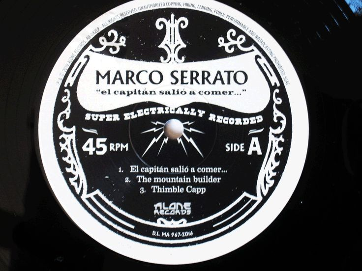 "MARCO SERRATO EL CAPITÁN SALIÓ A COMER..A really interesting solo project, in which anyone - fell in love with the instrument - can appreciate the woody sound of double bass and its poetry. . ALONE RECORDS (2016) - Bass My Fever - Covering all the ""basses"""