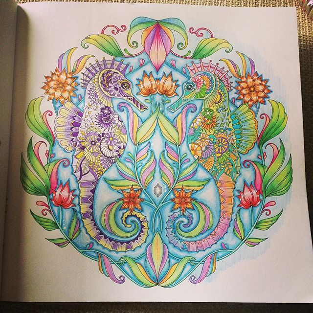 Animal Kingdom Coloring Book Instagram 76 Best Lost Ocean Completed Pages Inspiration