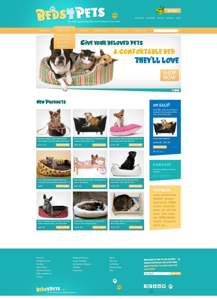 Beds4Pets - Free PSD Template