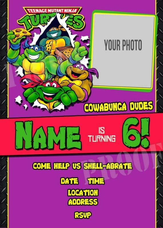 266 best birthday party ideas images – Printable Ninja Turtle Birthday Invitations