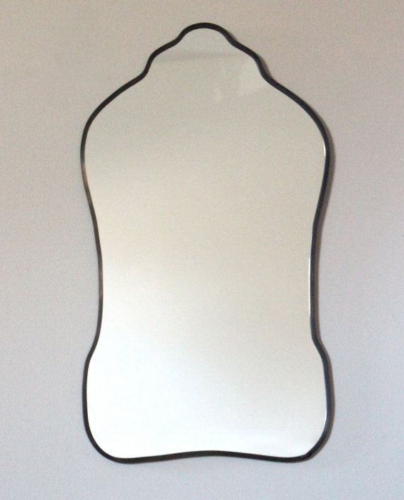 Oval Mirror Handmade Wall Mirror Wall Mirror Miroir Oblong Sculpted Organic Curved Curvy Scalloped  > > > This item is made to order. Please allow four