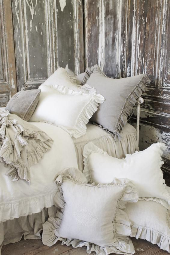Vintage Ruffle Pillow Shams from Full Bloom Cottage