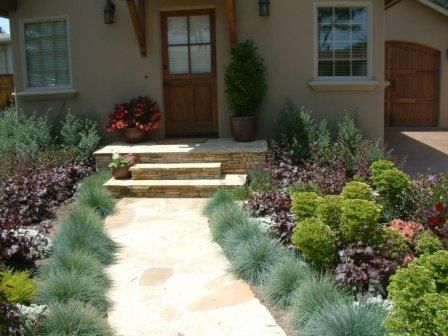 Entry Lined By Small Gres Find This Pin And More On Water Conservation Landscaping Ideas