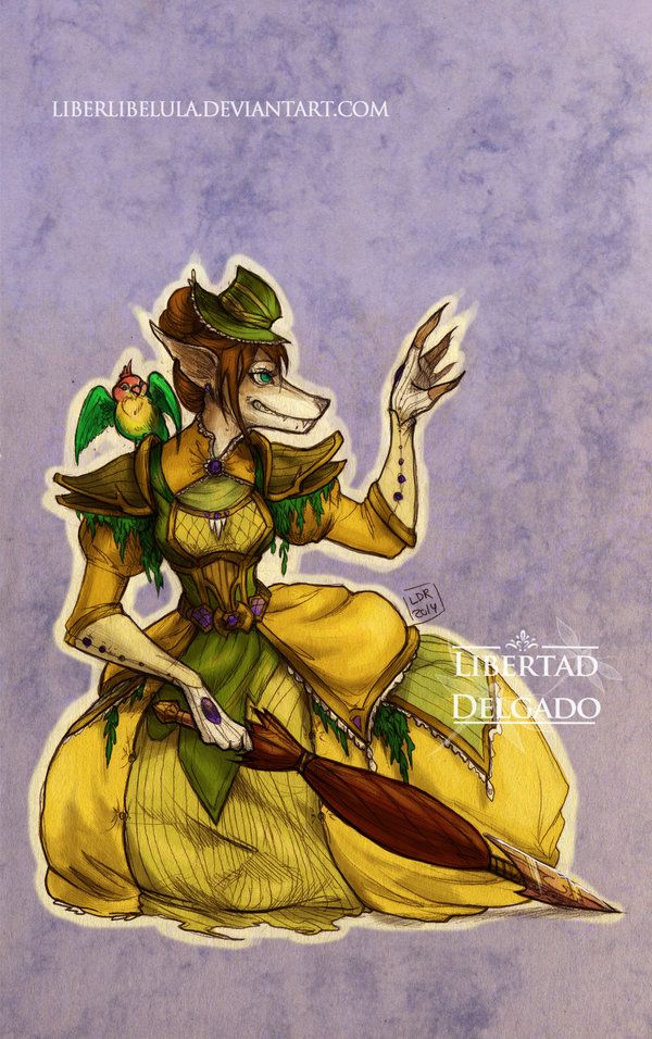 Disney Princesses transformed into World of Warcraft characters - Jane worgen