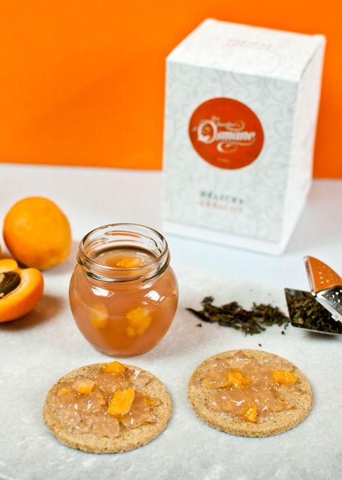 Recette de gelée au thé Délices Abricot des Jardins d'Osmane. #Recette #Recipe #Abricot #Apricot #Tea #Thé