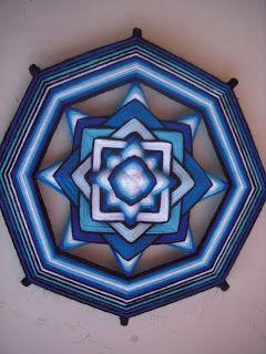 Mandalas con hilo: 60 y 30 cm. de diámetro