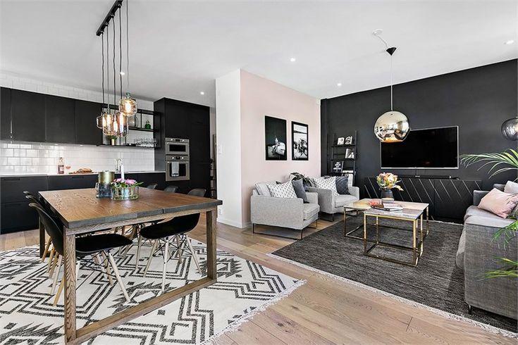 Aux tons bruns doux se marie le noir et une décoration scandinave, à la fois vintage, industrielle et ethnique, dans cet appartement de trois pièces de 92m² situé en Suède et, plus adapté à une vie…