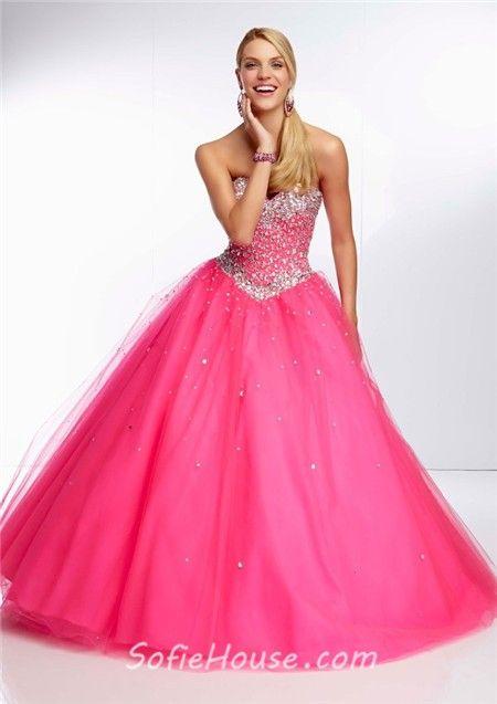 80 best Hot Pink Prom Dresses images on Pinterest