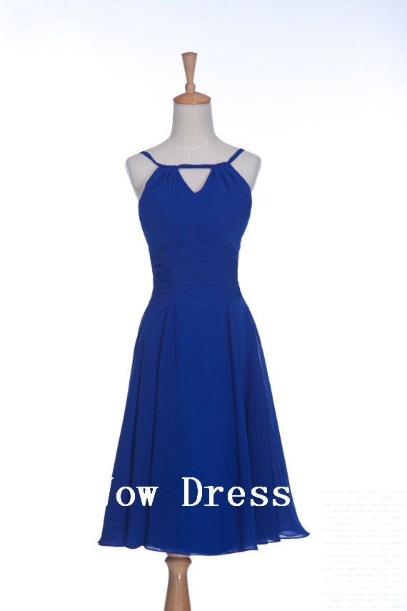 Blue Bridesmaid Dress/ Short Bridesmaid Dress/ Ruffles by WowDress, $75.00. Comes in beautiful pink shade