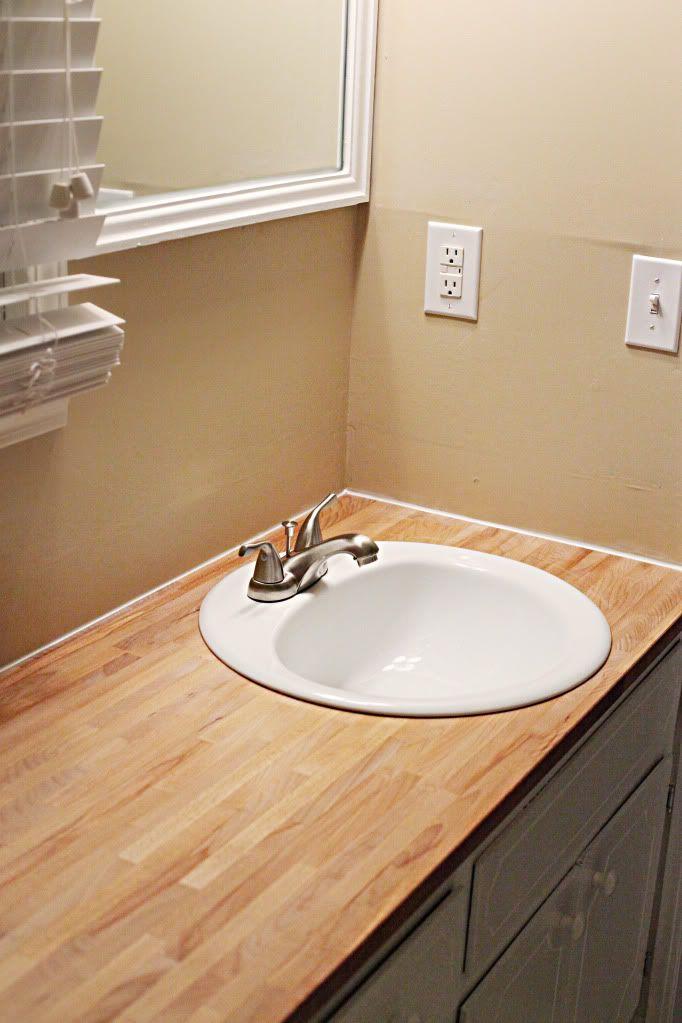 142 best images about bedroom bathroom robe on pinterest - Butcher block countertops in bathroom ...