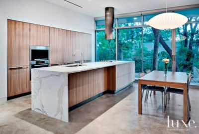 Modern and Warm Kitchen- nice wood grain and color