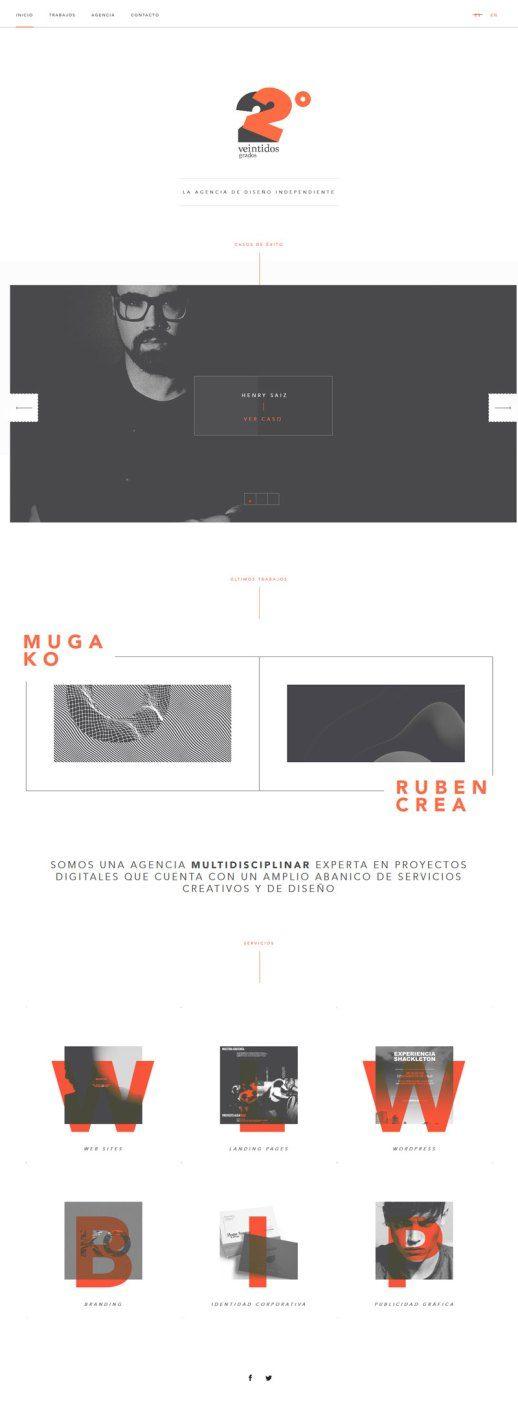 Veintidos Grados, conceptual design website