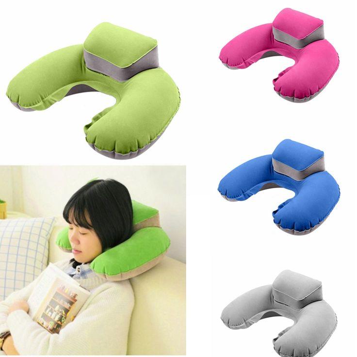 Kissen Tragbare Aufblasbare Nackenkissen U Form PVC Beflockung Kissen Flug Travel Zubehör U-typ aufblasbare kissen paket