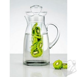 Fruit Infusion Pitcher - I have this glass one, but at Bed Bath and Beyond or Crate and Barrel they are available in a plastic version. Lighter in hand and on the wallet. Infuse with lemons, strawberries, kiwi, cucumbers. What's your flavor?