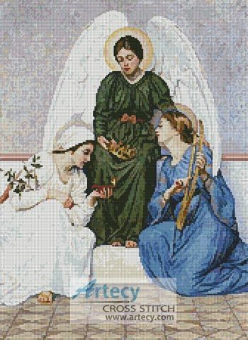 Faith, Hope and Love Counted Cross Stitch Pattern http://www.artecyshop.com/index.php?main_page=product_info&cPath=31_36&products_id=1216