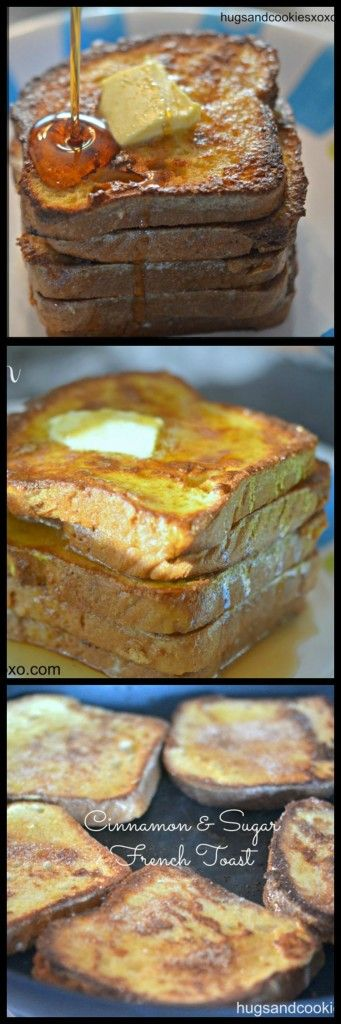 this cinnamon and sugar french toast is a perfect weekend breakfast