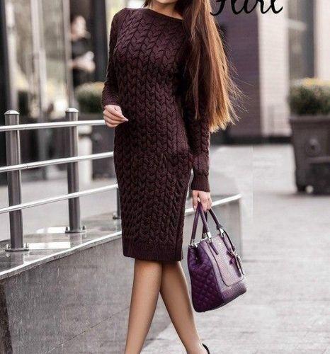 Платье с косами