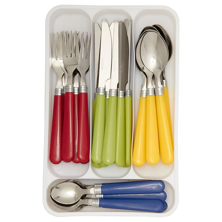George Home Coloured Cutlery Set 40 Piece | Cutlery | ASDA direct
