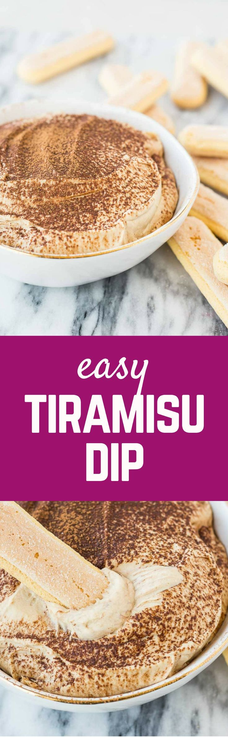 With all the great taste of tiramisu, but in an easy, fun, dip-able format, this tiramisu dip is going to become an instant party favorite! Get the easy dessert recipe on http://RachelCooks.com! #sponsored @Milk